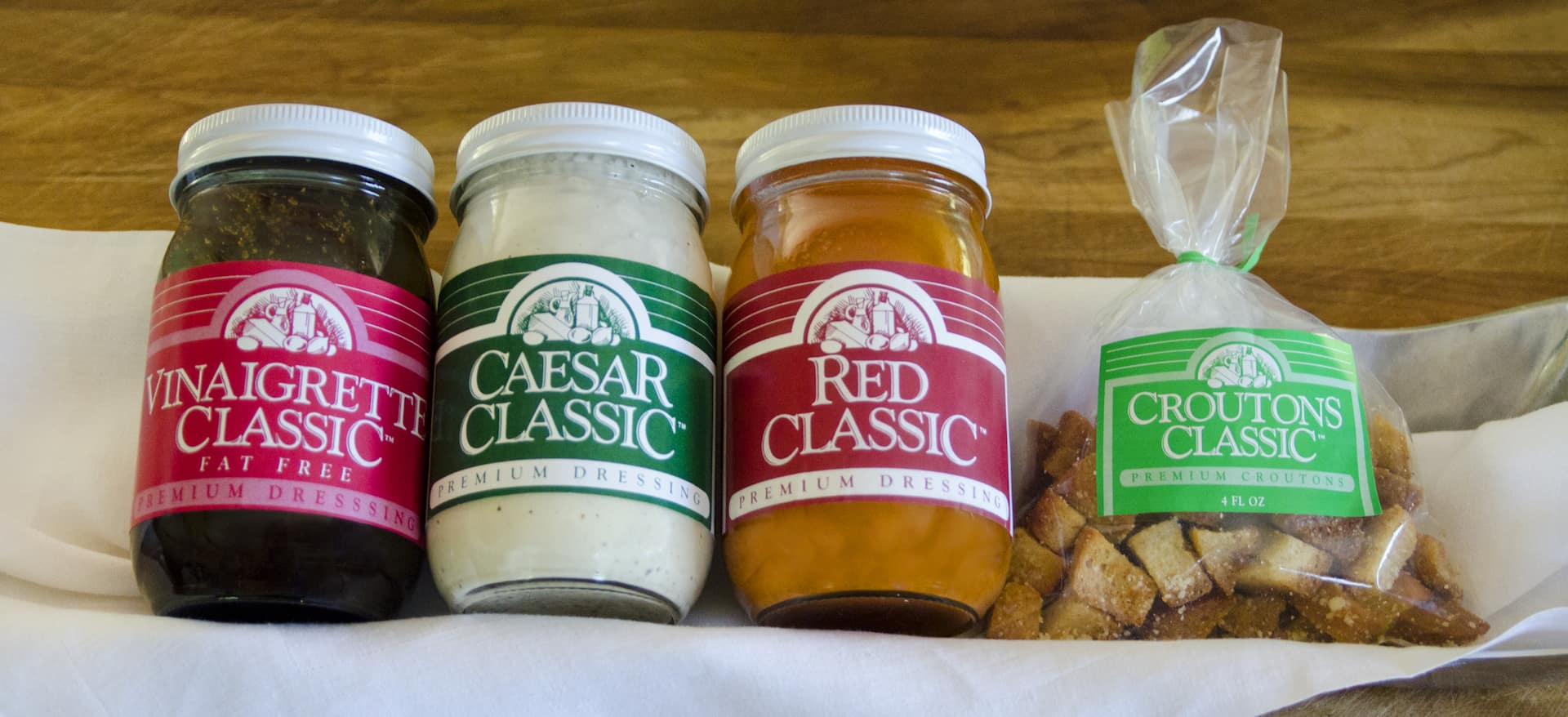 3 Dressings with Croutons
